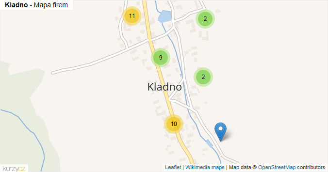 Mapa Kladno - Firmy v části obce.