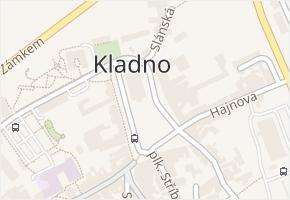 Kladno v obci Kladno - mapa části obce