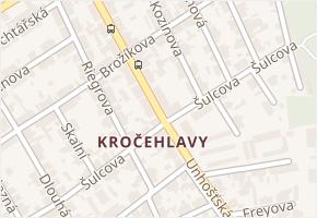 Kročehlavy v obci Kladno - mapa části obce