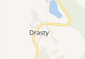 Drasty v obci Klecany - mapa části obce