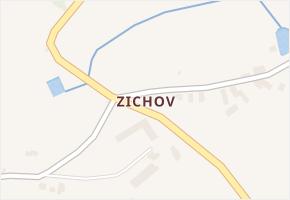 Zichov v obci Koloveč - mapa části obce