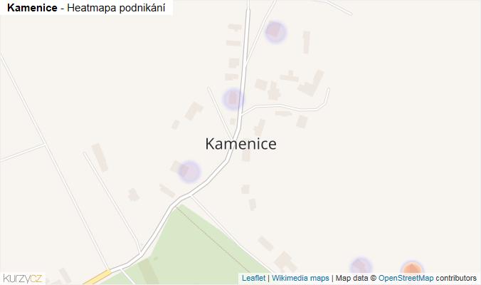 Mapa Kamenice - Firmy v části obce.