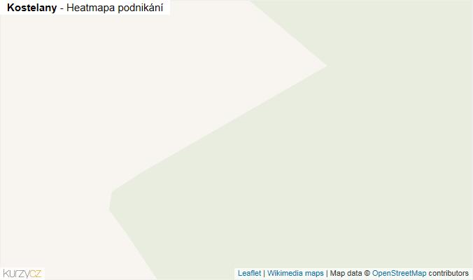 Mapa Kostelany - Firmy v obci.