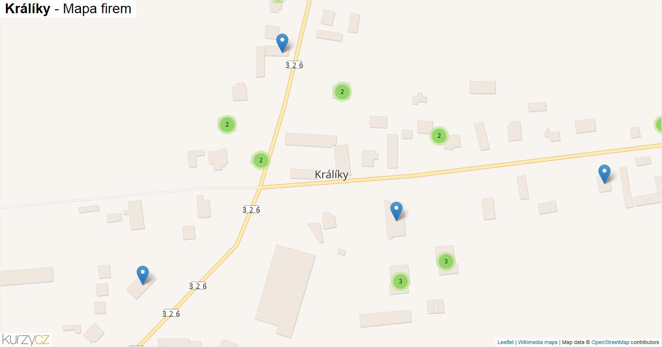 Králíky - mapa firem