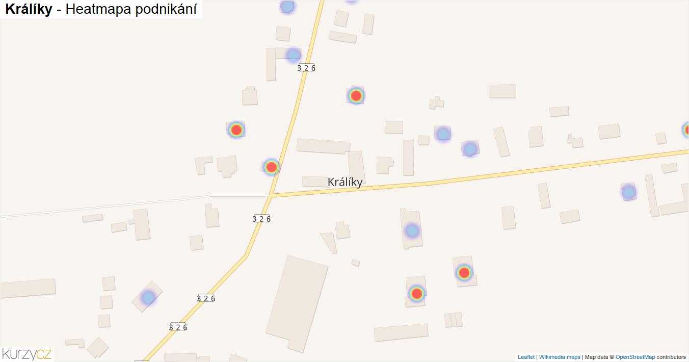 Králíky - mapa podnikání