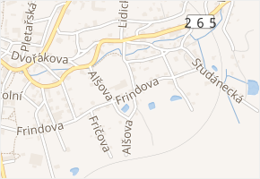 Štefanikova v obci Krásná Lípa - mapa ulice