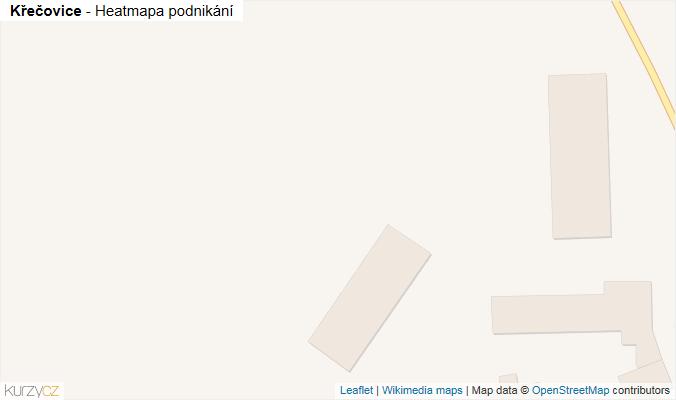 Mapa Křečovice - Firmy v obci.