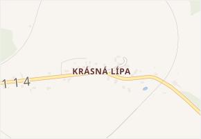 Krásná Lípa v obci Křimov - mapa části obce