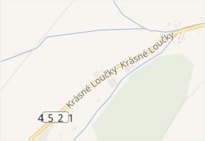 Krásné Loučky v obci Krnov - mapa ulice