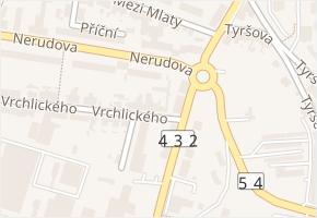 Vrchlického v obci Kyjov - mapa ulice