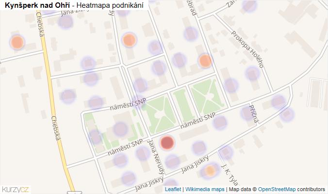 Mapa Kynšperk nad Ohří - Firmy v obci.