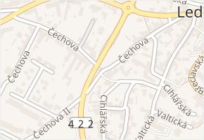 Čechova v obci Lednice - mapa ulice