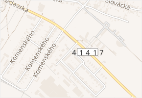 Sídl. Osvobození v obci Lednice - mapa ulice