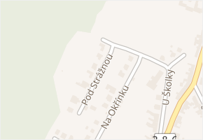 Pod Strážnou v obci Lelekovice - mapa ulice