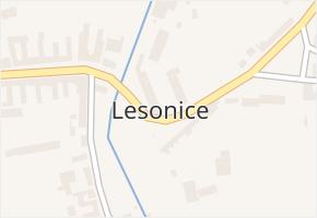 Lesonice v obci Lesonice - mapa části obce