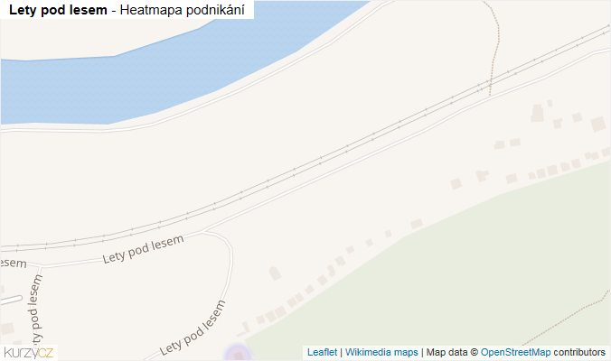 Mapa Lety pod lesem - Firmy v ulici.