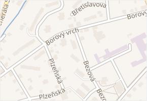 Borový vrch v obci Liberec - mapa ulice