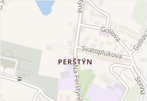 Liberec IV-Perštýn v obci Liberec - mapa části obce