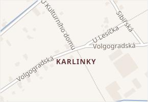 Liberec XVIII-Karlinky v obci Liberec - mapa části obce