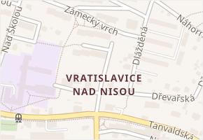 Liberec XXX-Vratislavice nad Nisou v obci Liberec - mapa části obce