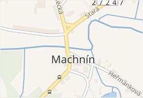 Liberec XXXIII-Machnín v obci Liberec - mapa části obce