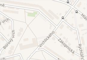 Vrchlického v obci Liberec - mapa ulice