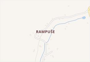 Rampuše v obci Liberk - mapa části obce