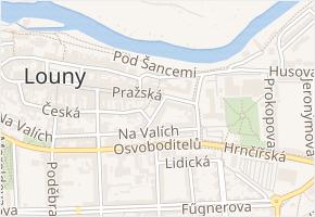 divadlo J. Vrchlického v obci Louny - mapa ulice