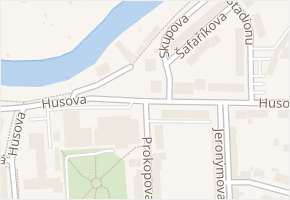 Prokopova v obci Louny - mapa ulice