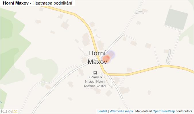 Mapa Horní Maxov - Firmy v části obce.