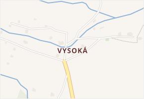 Vysoká v obci Malá Morava - mapa části obce