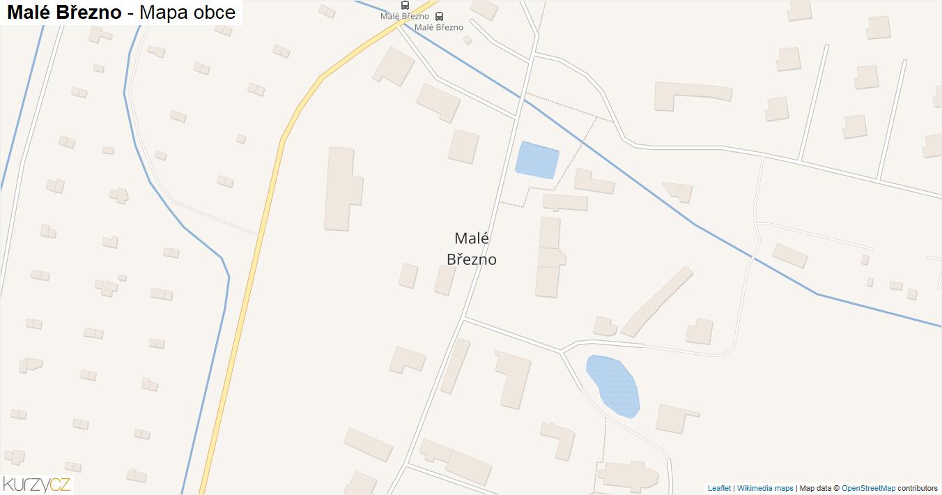 Malé Březno - mapa obce