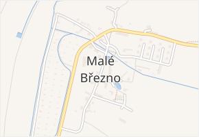 Malé Březno v obci Malé Březno - mapa části obce