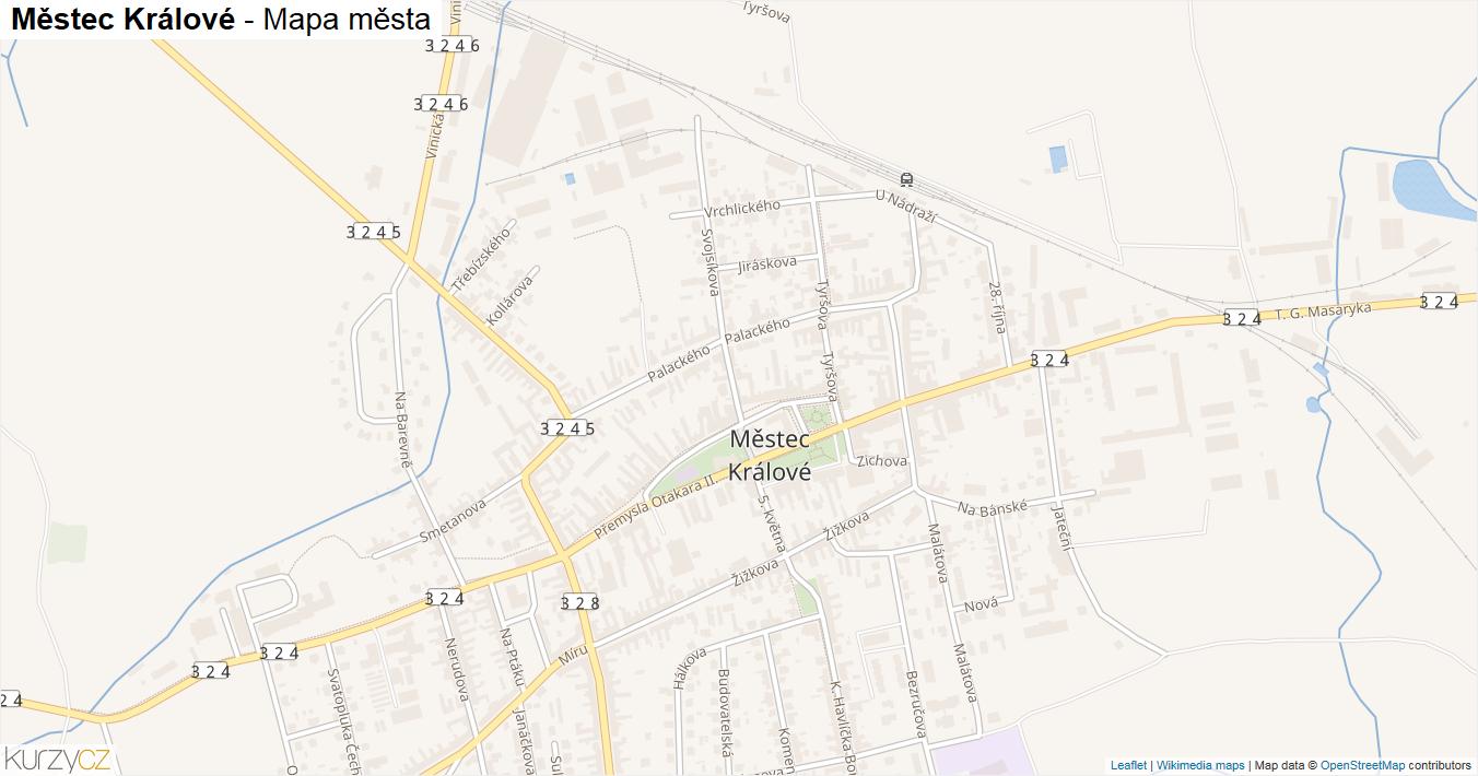 Městec Králové - mapa města