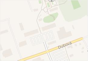 Topolová v obci Milovice - mapa ulice