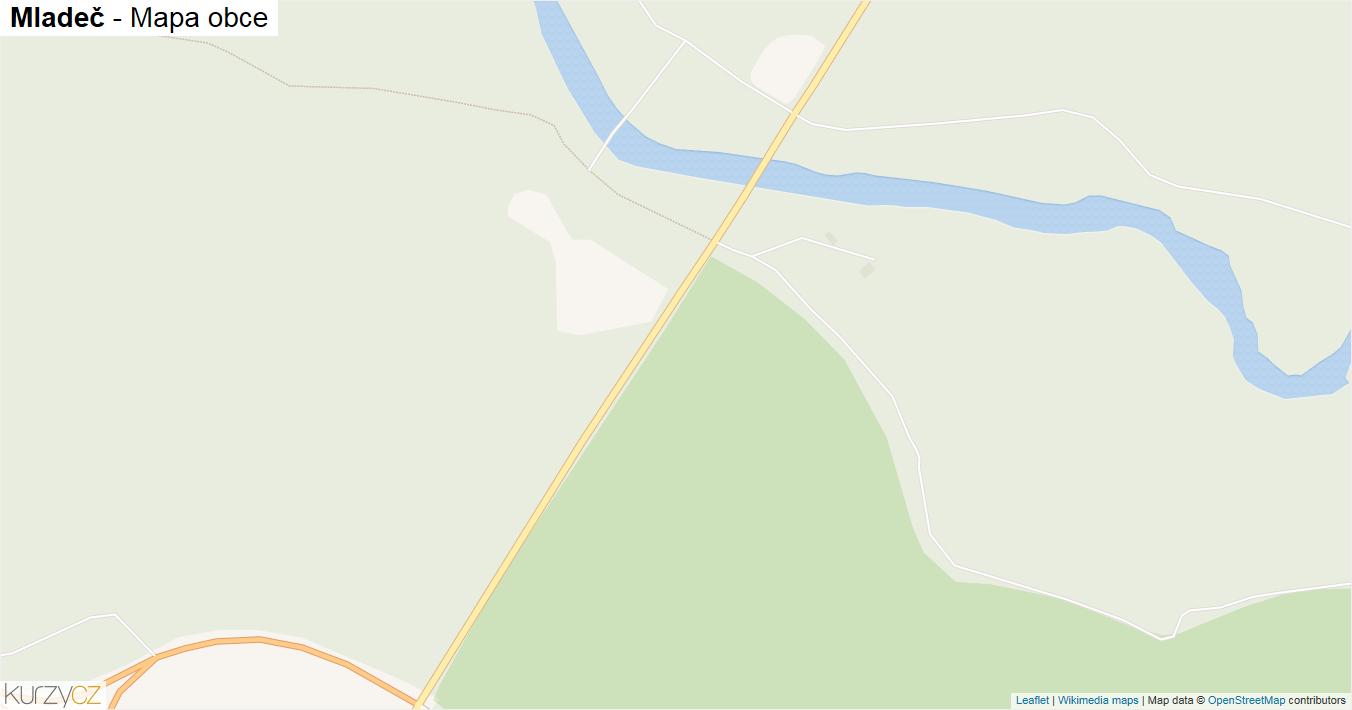 Mladeč - mapa obce
