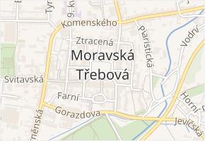 Město v obci Moravská Třebová - mapa části obce