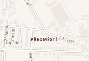 Předměstí v obci Moravská Třebová - mapa části obce