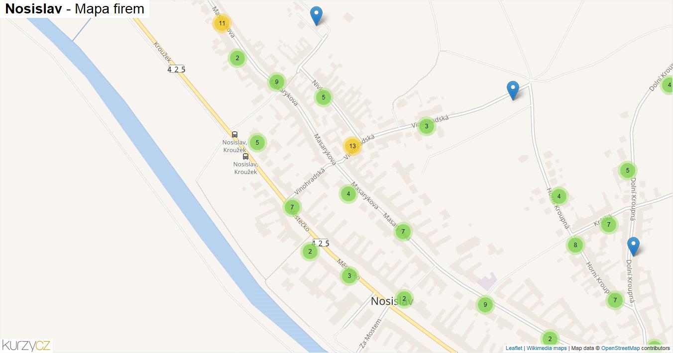 Nosislav - mapa firem