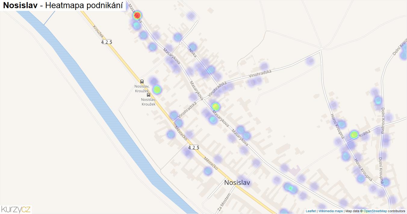 Nosislav - mapa podnikání