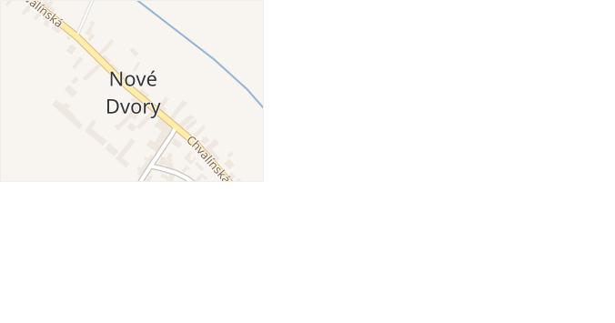 Nové Dvory v obci Nové Dvory - mapa části obce
