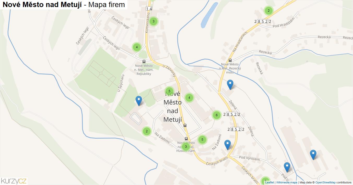 Nové Město nad Metují - mapa firem