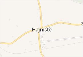 Hajniště v obci Nové Město pod Smrkem - mapa části obce