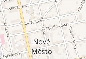 Palackého v obci Nové Město pod Smrkem - mapa ulice