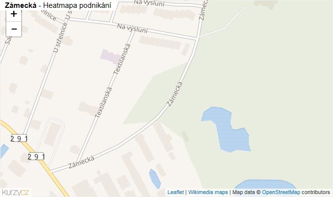 Mapa Zámecká - Firmy v ulici.