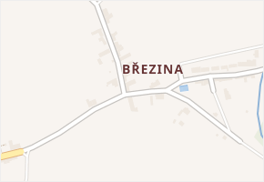 Březina v obci Nové Sady - mapa části obce