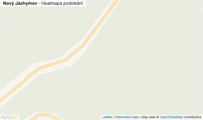 Mapa Nový Jáchymov - Firmy v obci.