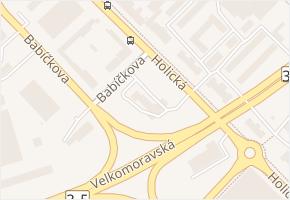 Holická v obci Olomouc - mapa ulice