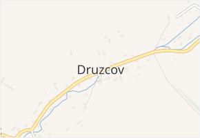 Druzcov v obci Osečná - mapa části obce