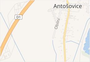 Antošovice v obci Ostrava - mapa části obce